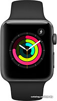 Apple Watch  Series 3 (GPS) 42mm Aluminum Space Gray with Black Sport Band