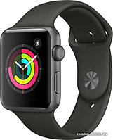 Apple WatchSeries 3 (GPS) 42mm Aluminum Space Gray with Grey Sport Band