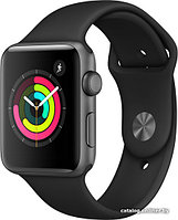 Apple Watch Series 3 38mm GPS Space Gray Aluminum Case with Black Sport Band