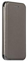 Кожаный чехол Open series на iPhone 5/5S (серый)