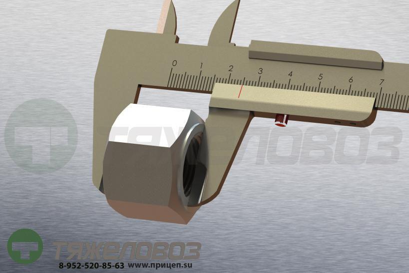 Гайка крепления колеса SAF, BPW,ROR,Volvo H=25,М22x1,5 4.342.0020.10