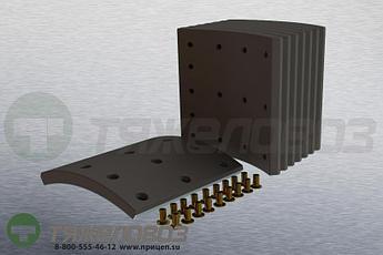 Накладки тормозные с заклепками (комплект) VOLVO STD 19939 270836-1 (410x200)