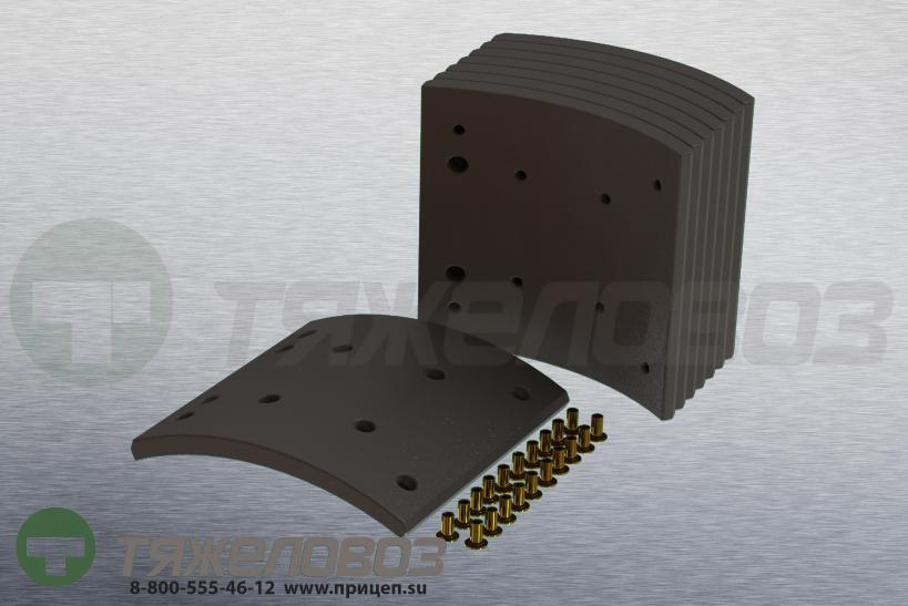 Накладки тормозные с заклепками (комплект) MAN,MERCEDES-BENZ STD 19496 81502210446 (410x223)