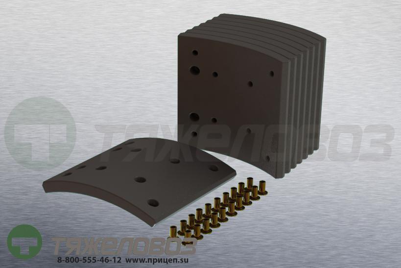 Накладки тормозные с заклепками (комплект) MAN,MERCEDES-BENZ STD 19487/19495 81502200524 (410x183)