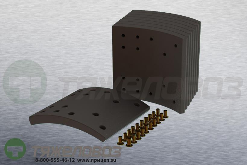 Накладки тормозные с заклепками (комплект) IVECO STD 19091 2991759 (410x201)