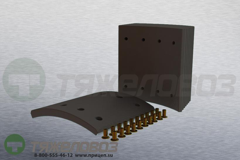 Накладки тормозные с заклепками (комплект) BPW,SAF,DAF,Freuhauf STD 19032 0309226010 (420x180)