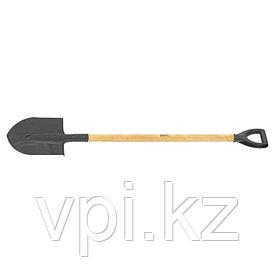 Лопата штыковая, деревянный лакированный черенок, 215*290*1340мм. Сибртех