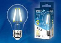 Лампа светодиодная диммируемая LED-A60-7W/E27/CL/DIM прозрачная