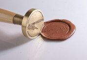 Металлическая печать, штамп под сургуч (пломбир под сургуч), фото 1