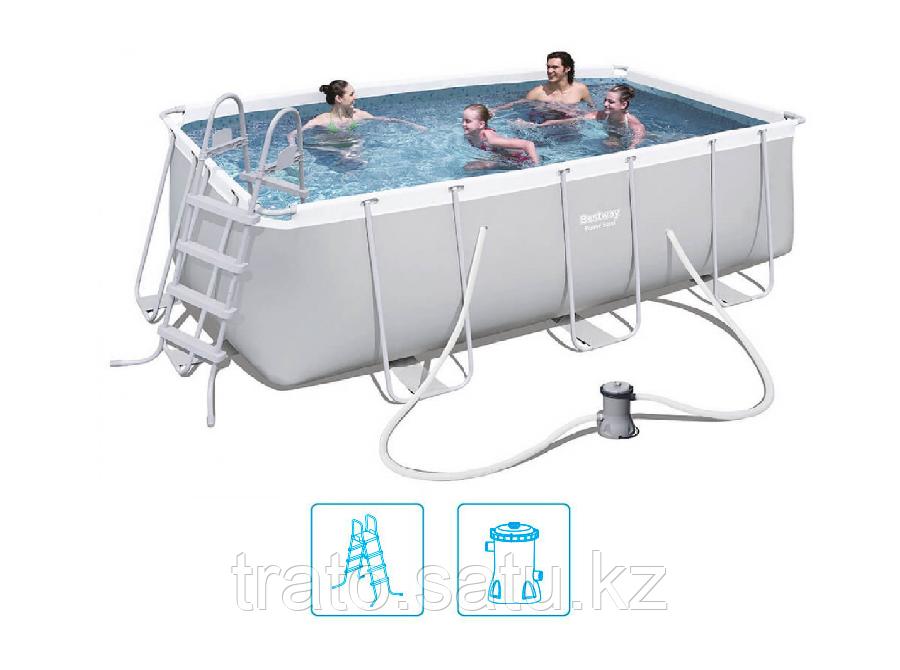 Каркасный  бассейн Bestway 412х201х122 с катриджным фильтром