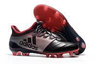 Футбольные бутсы Adidas X 17.1 Leather FG Grey/Red/Black 39-43, фото 1