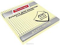 Клейкие листки BERLINGO 76х76 мм, желтые, 100 листов