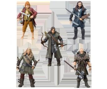"""Фигурки героев """"Хоббита"""" в наборе с оружием. серия, 5 шт."""
