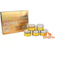 "Набор для лица ""Папайя"" (Papaya Skin Revitalising Facial Kit KHADI), 5 шт * 15 г."