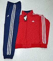 Костюм спортивный мужской Adidas красный меланж/синий