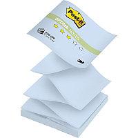 """Клейкие листки POST-IT """"Optima"""" Z-укладка, голубая пастель, 76х76 мм, 100 листов"""
