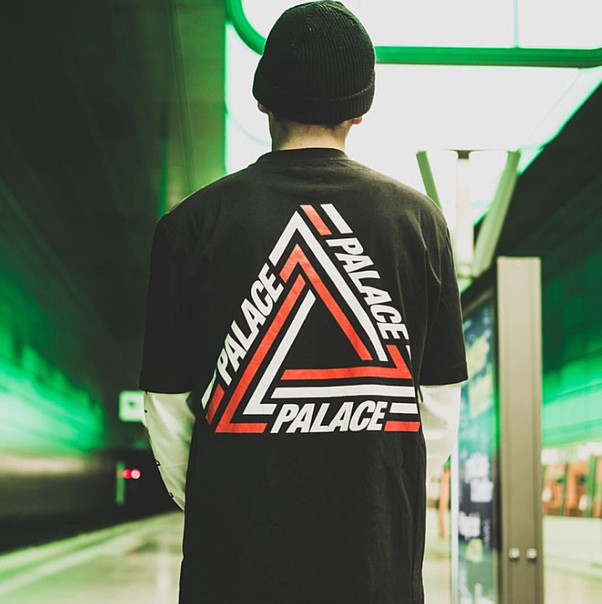Футболка PALACE WHITE/RED LOGO