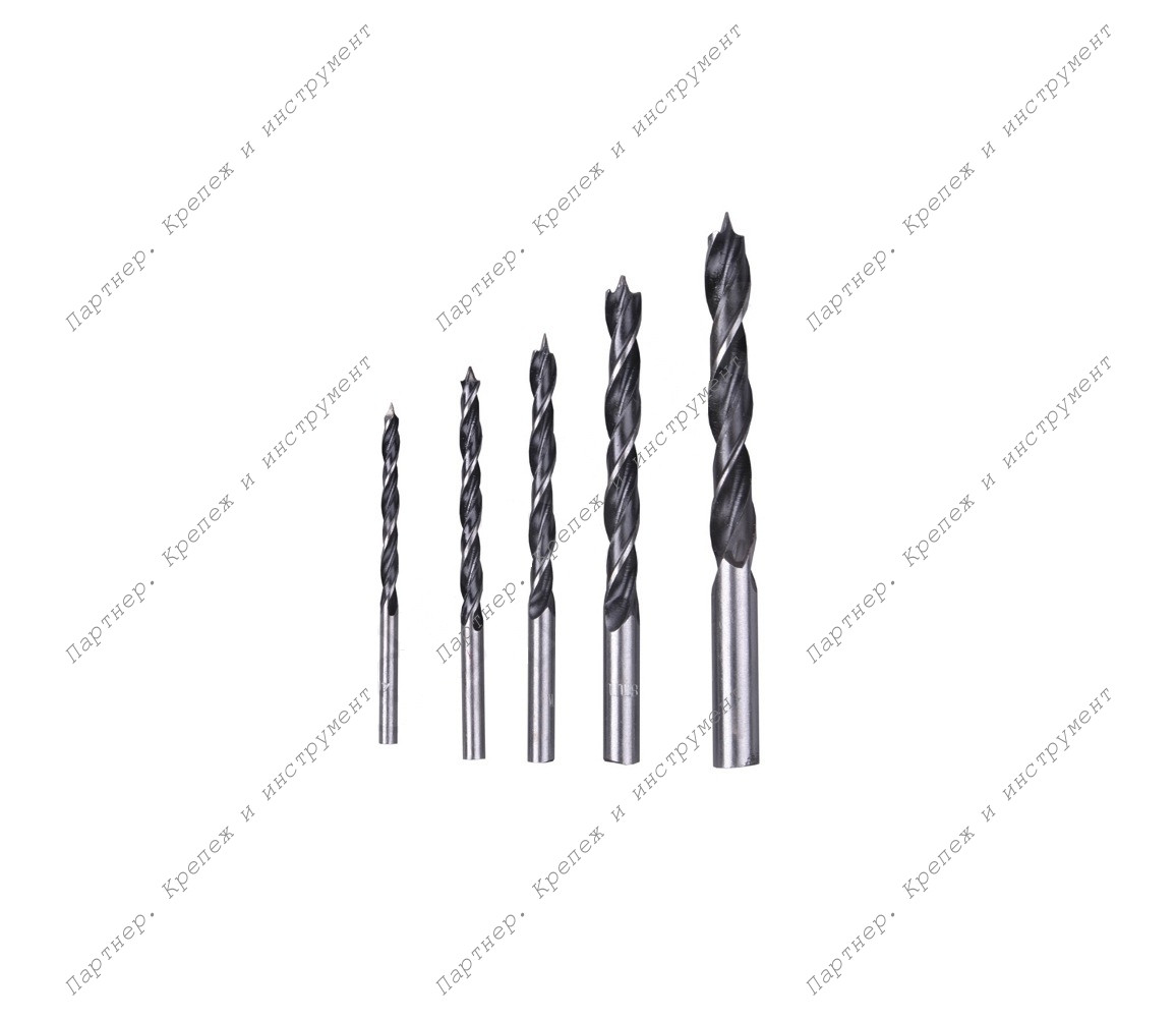 (36105) Сверла по дереву, набор 5 шт. (4-5-6-8-10 мм)
