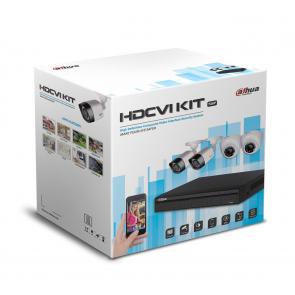 Комплект HD Видеонаблюдения Dahua на 4 камеры 2 Мп