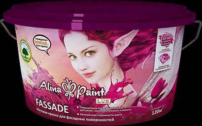 Alina Paint Fassade, 3,8 кг фасадная, база В для колерования