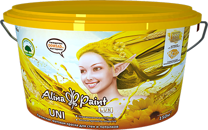 Alina Paint Uni, 3,8 кг латексная, база В для колерования