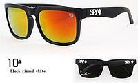 Солнцезащитные очки SPY+  черная оправа, белое лого , фото 1