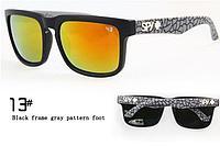 Солнцезащитные очки SPY+  черная оправа, серые дужки , фото 1