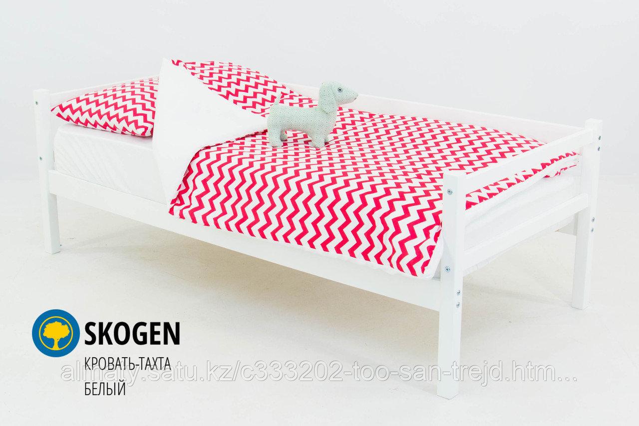 """Детская деревянная кровать-тахта Бельмарко""""Skogen белый"""""""