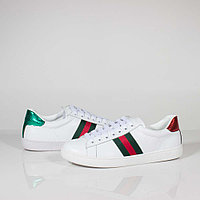 Кроссовки Gucci Ace Embroidered Leather White