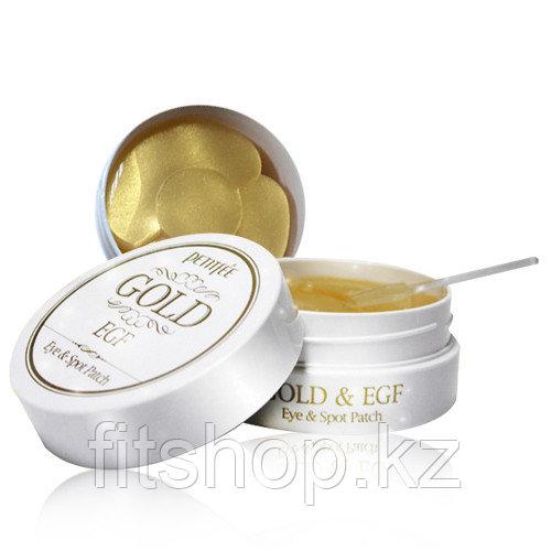Гидрогелевые патчи для глазс золотом и EGF —PETITFEE Gold & EGF Eye & Spot Patch