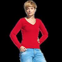 Женская футболка с длинным рукавом StanFashion 32 Красный XXL/52