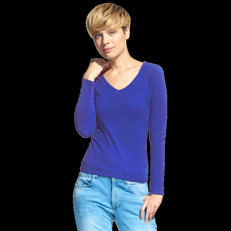 Женская футболка с длинным рукавом StanFashion 32 Синий XS/42