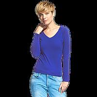 Женская футболка с длинным рукавом StanFashion 32 Синий XXL/52