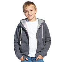 Детская толстовка StanStyleJunior 17J Тёмный меланж-Серый меланж 8 лет