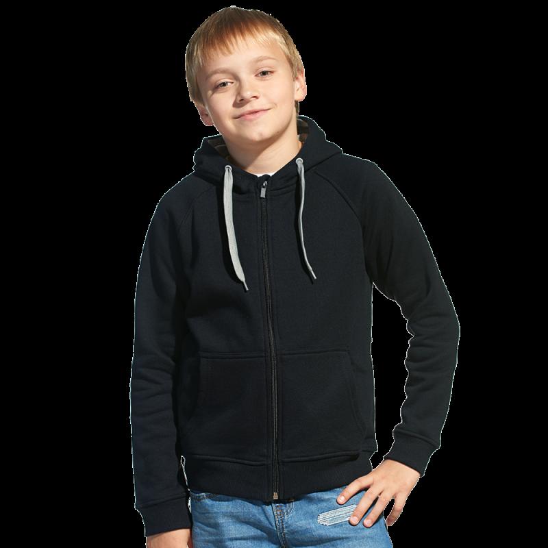 Детская толстовка StanStyleJunior 17J Чёрный-Серый меланж 8 лет