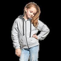 Облегченная детская толстовка  StanCoolJunior 61J Серый меланж 8 лет