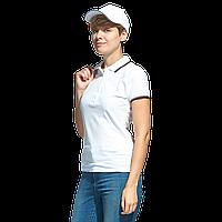 Рубашка поло с контрастной отделкой StanTrophyWomen 04BK Белый L/48