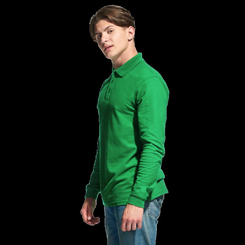 Рубашка поло с длинным рукавом StanPolo 04S Зелёный L/50
