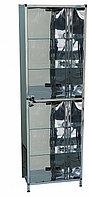 Шкаф медицинский из нержавеющей стали одностворчатый Э-110/Н-ШК