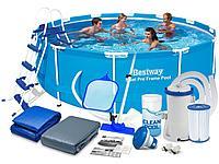 Круглый каркасный бассейн Bestway 56418 Steel Pro Max 366*100