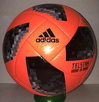 """Футбольный мяч ЧМ """"Telstar 18"""" кожаный (оранжевый) доставка, фото 3"""