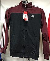 Костюм спортивный мужской Adidas черный-бордовый/черный