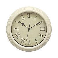 Настенные часы 25*25*4,5 см белые