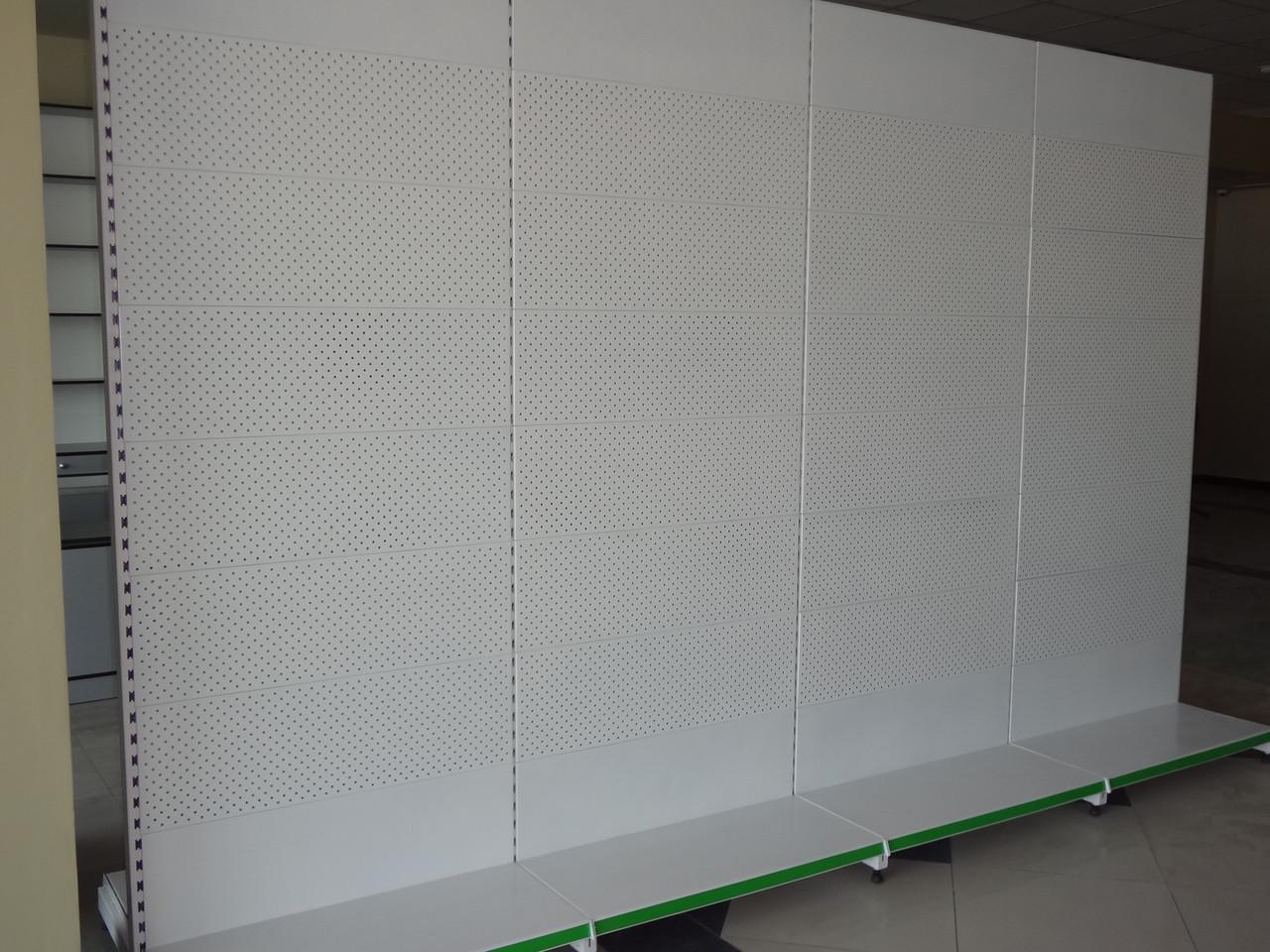 Стеллаж металлический с перфорацией для крючков 2200х1000х500