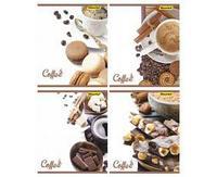 """Тетрадь общая Silwerhof """"Кофе шоколад""""  А5, 48 листов в клетку, на скрепке"""