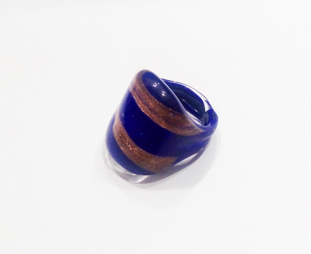 Кольцо из муранского стекла,ручная работа.Италия