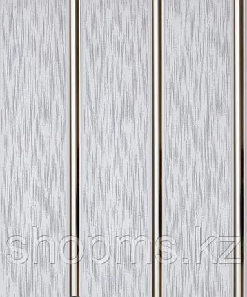 Панель пластиковая трехсекционная Серый дождь (0,25*3м/12), фото 2