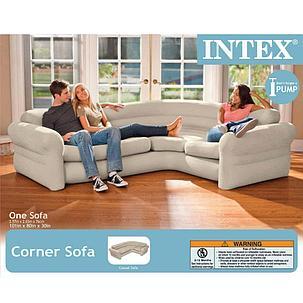 Надувной угловой диван Intex 68575+насос доставка, фото 2