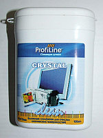 Crystal Clean tube (салф.для экранов LCD и оптики влажные 100шт)ProfilLine F300230