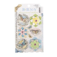 Стикеры-украшения BoBunny Country Garden Dimensional Sticker (набор 8 шт) от 1 до 5,6 см